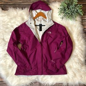 The North Face Magenta Hyvent Waterproof Jacket